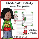 Christmas Friendly Letter Template Editable Google Version