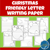 Christmas Friendly Letter Templates and Writing Paper