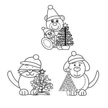 Christmas Friends Clip Art