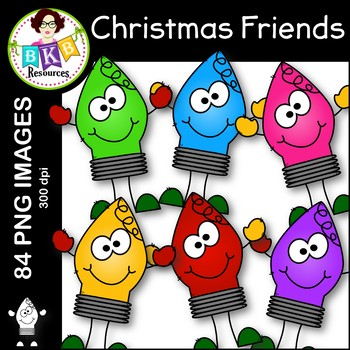 Christmas Friends Clip Art ● Commercial Use