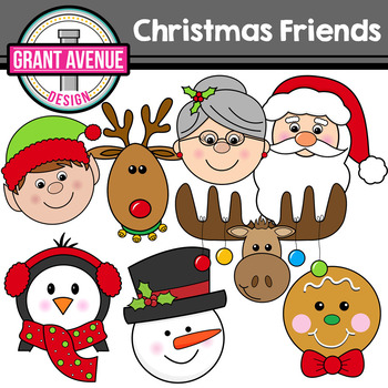 Christmas Friends Clipart