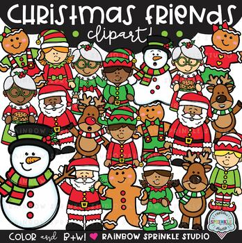 Christmas Friends Clipart {Christmas characters clipart}