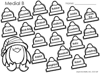 Christmas Friends NO PREP Articulation Worksheets * K,G, T, D, B, P, M, N, H, W*