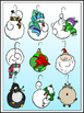 Christmas Friends Ornaments Clipart (9 FREE Elements included)