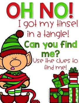 """Christmas Friends """"Scoot With A Twist"""" Game"""