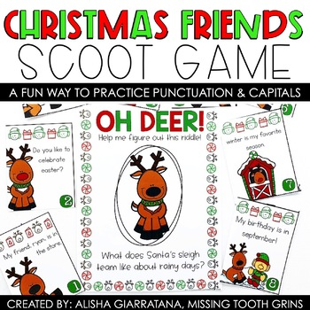 "Christmas Friends ""Scoot With A Twist"" Game"