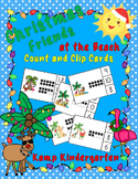 Christmas Friends at the Beach Count and Clip Cards (Quantities to 20)
