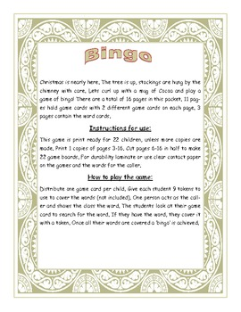 Christmas Fry Sight Words 51-100 Bingo Game