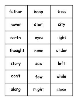 Christmas Fry Words 201-250 Bingo Game
