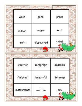 Christmas Fry Words 551-600