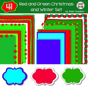 Christmas Full Color Pages, Borders and Toppers