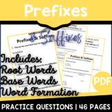 Prefixes & Suffixes Worksheets | ELA Test Prep | Independe