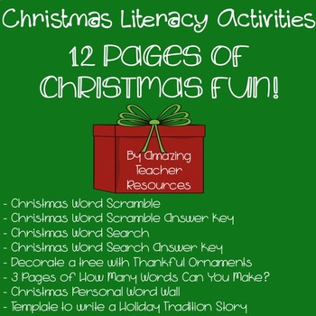 Christmas Fun! A Packet Full of Christmas Literacy Activities!
