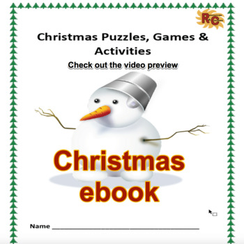 Image of Seasonal Products by R&C  Christmas Workbook for Grade 1-5