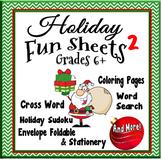 Christmas Fun - Activity Sheets 2 Grades 6+