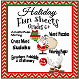 Christmas Fun - Activity Sheets Grades 6+