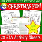 Christmas Fun! Activity Sheets - No Prep!