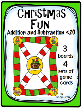 Christmas Fun ~ Addition and Subtraction within 20 ~ Game