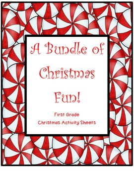 Christmas Fun Bundle {Fun First Grade Christmas Worksheets}