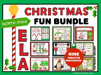 Christmas Fun Bundle (Nine ELA Activities)