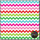 Christmas Fun Chevron on White Digital Papers {Commercial