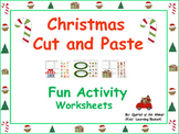 Christmas Fun Cut and Paste Activity Worksheets: