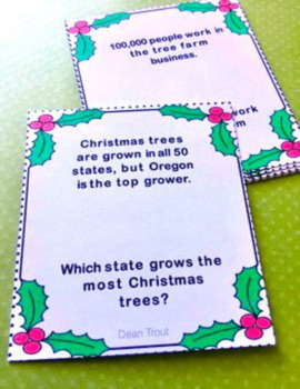 Listening Comprehension: Listening for Details Christmas Fun Facts: