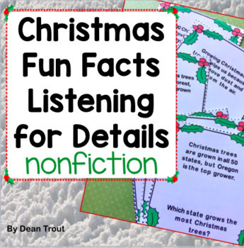 Christmas Fun Facts for Speech Therapy | Listening Comprehension
