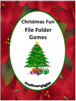 Christmas File Folder Games, File Folder Games for Special Education, Autism
