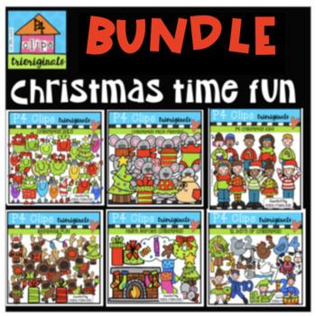Christmas Fun GROWING BUNDLE (P4 Clips Trioriginals Clip Art)