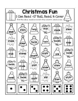 Christmas Fun - I Can Read It! Roll, Read, and Cover (Lesson 17)
