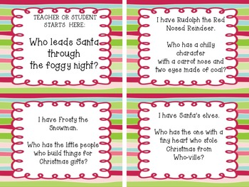 Christmas Fun: I have Who Has Task Cards with Christmas trivia