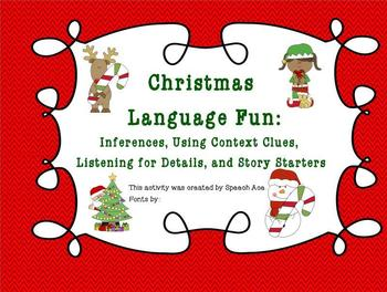 Christmas Fun: Inferences, Context Clues, Details, and Sto