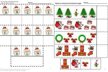 Christmas Math & Literacy Centers Interactive Notebook Activities Kindergarten