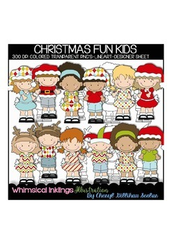 Christmas Fun Kids Clipart Collection