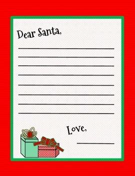 Christmas Fun - Letter to Santa Blank Template