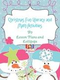 Christmas Fun Literacy and Math Activities