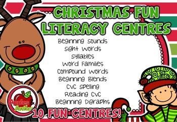 Christmas Fun Math and Literacy Centre BUNDLE