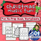 Christmas MUSIC Worksheets, FUN - No Prep, K-5 - Composing