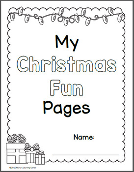 Christmas Fun Pages Packet - Mazes, Dot-to-Dots, Tracing, Jigsaw Puzzles!