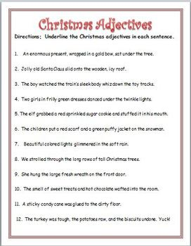 Christmas Fun: Riddles, Homonyms and Adjectives (& synonyms ...