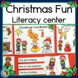 Christmas Fun Sentence Picture Match Reading Center