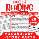Reading Comprehension Passages   Making Predictions & Mixed Skills   Grade 3-4
