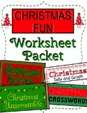 Christmas Fun Worksheet Packet
