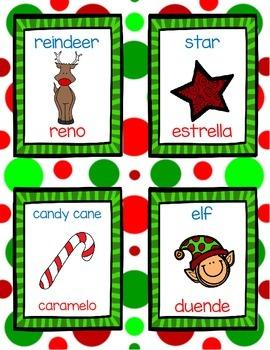 Christmas Write the Room *dual language version*