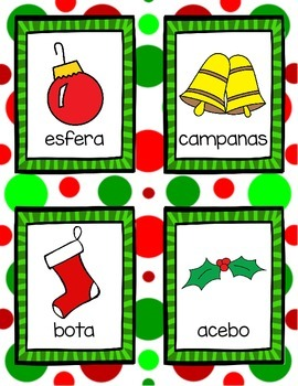 Christmas Write the Room *in Spanish*