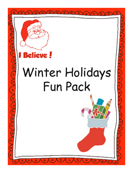 Christmas Fun and Educational Pack