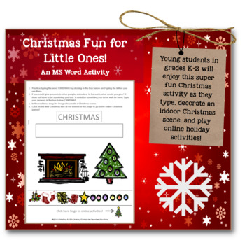 Christmas Fun For Little Ones Ms Word Internet Activities For
