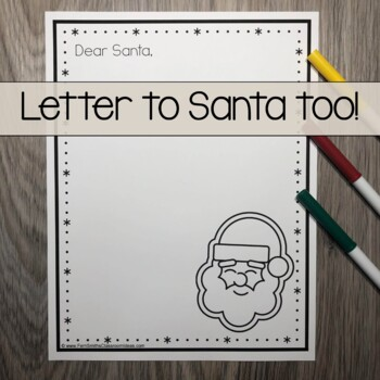 Christmas Coloring Page with Differentiated Seasonal Vocabulary