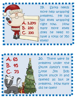 Christmas Fun with Word Problems!